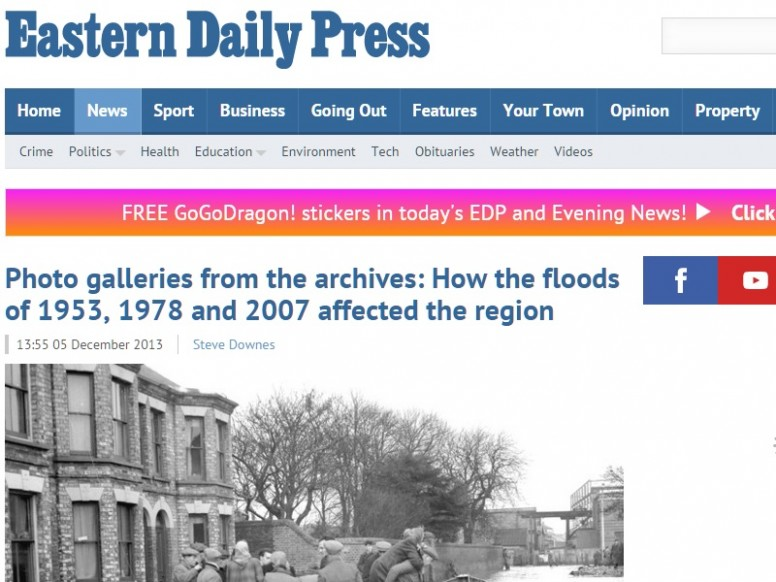 Photos from the archives: a comparison of the 1953, 1978, and 2007 east coast floods
