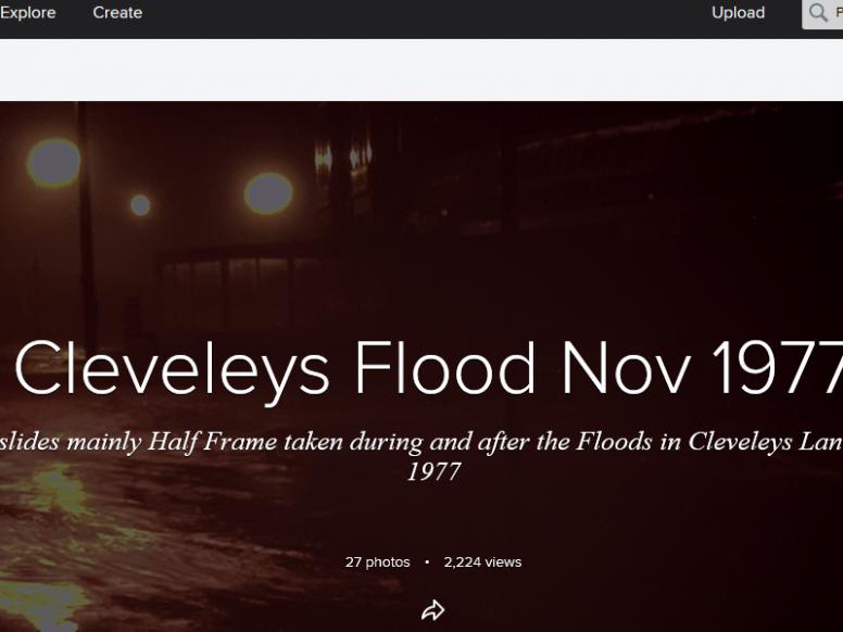 The November 1977 flood along the Fylde coast: photographs from Cleveleys