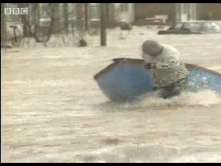 Towyn floods of 1990: archive video footage of the aftermath