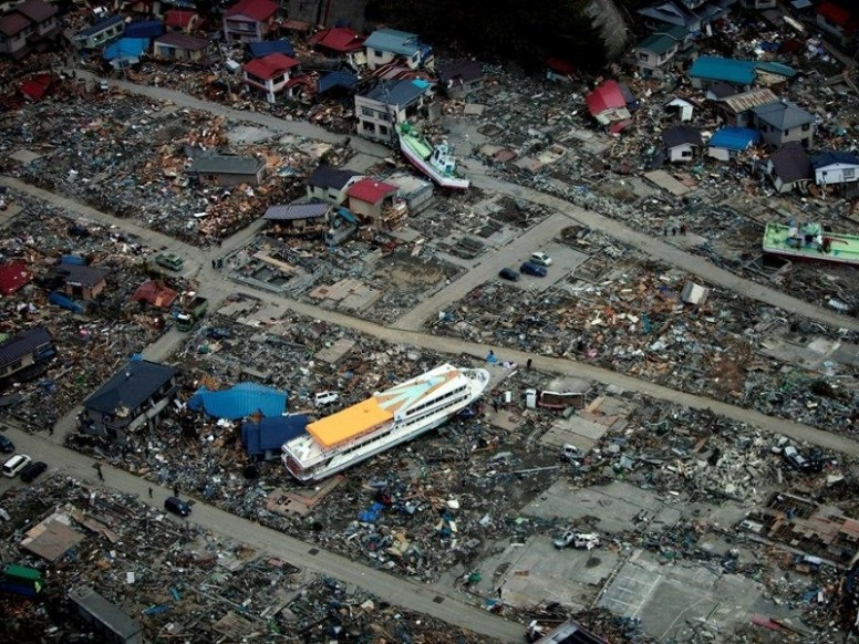 Chile earthquake: aerial view of tsunami aftermath