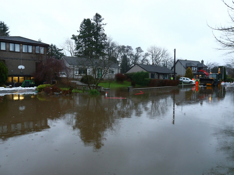 Scotland hit by heavy rain and flooding with record water levels
