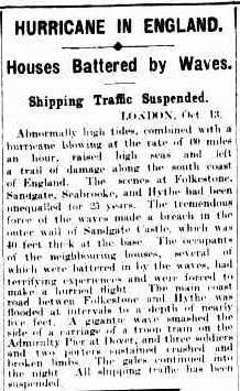 1923 Newspaper reporting of the incident