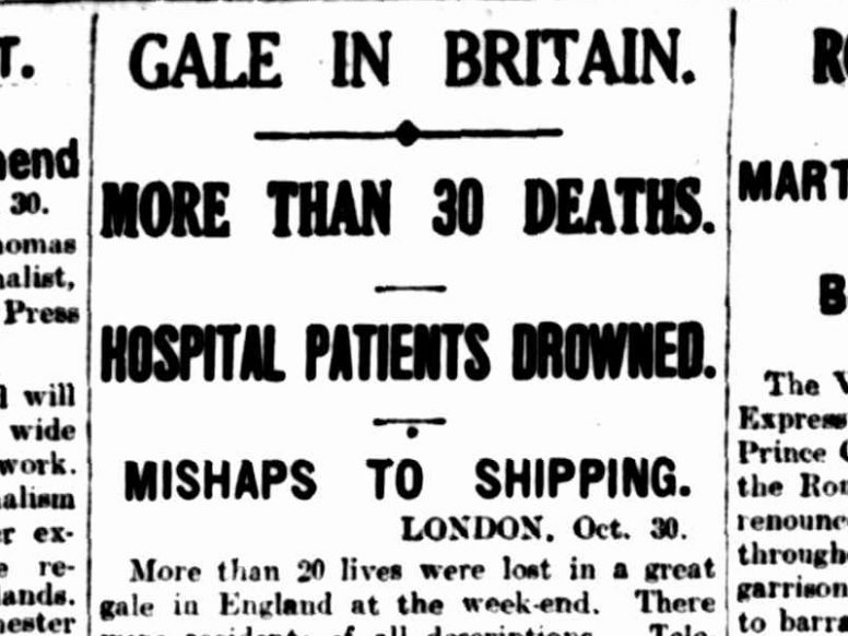 Event in Focus: October 1927 - Fatalities in a flooded hospital