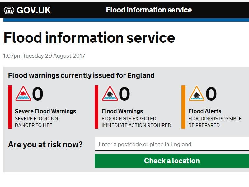 Flood Information Service dashboard